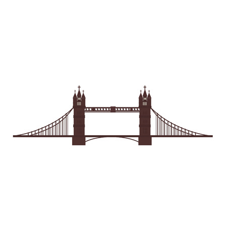 iconic architecture: london tower bridge british river famous england vector graphic isolated and flat illustration Illustration