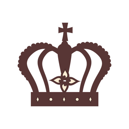 regal: royal crown british london uk united kingdom royalty family vector graphic isolated and flat illustration