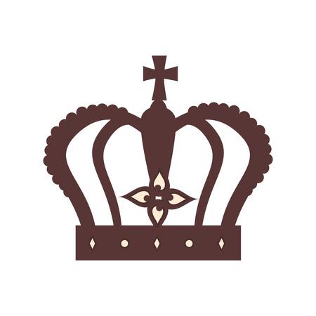 coronation: royal crown british london uk united kingdom royalty family vector graphic isolated and flat illustration