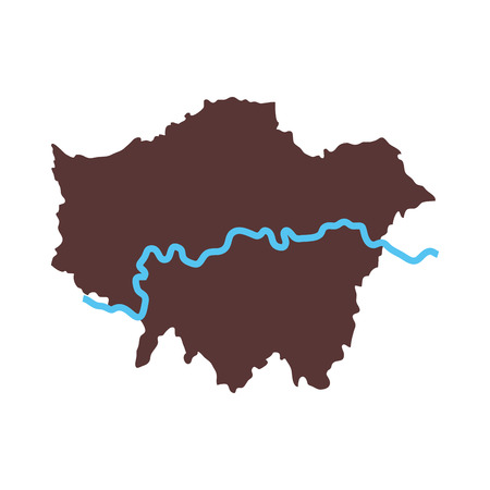 hamlets: london map city area river united kingdom capital geography vector graphic isolated