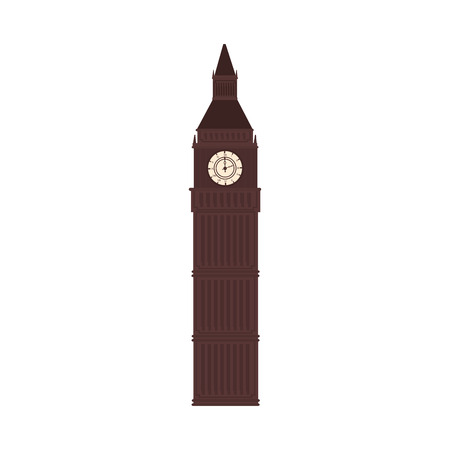 tower of london: big ben tower london united kingdom building icon historic city vector graphic isolated and flat illustration