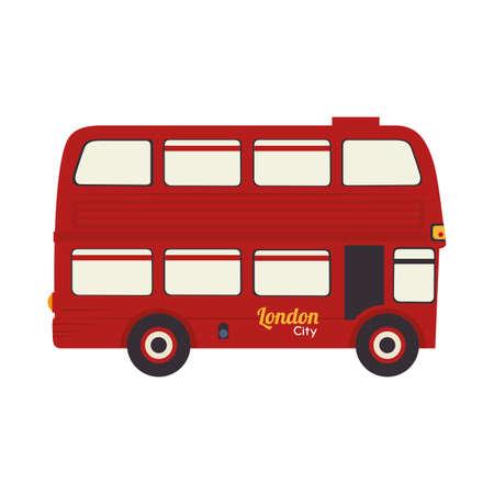 london bus: london bus vehicle british famous icon united kingdom english vector graphic isolated and flat illustration