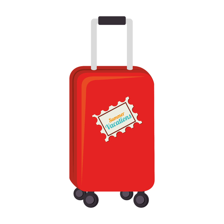 portmanteau: bag case travel modern baggage suitcase vacation vector graphic isolated and flat illustration