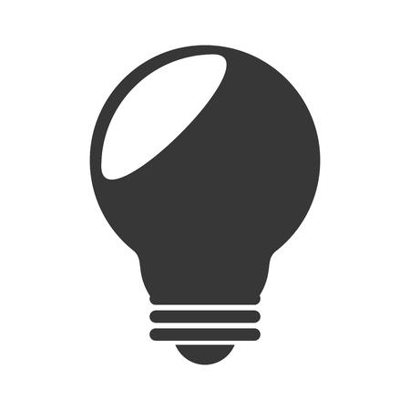 illumination: bulb light electricity idea energy illumination silhouette vector graphic isolated and flat illustration