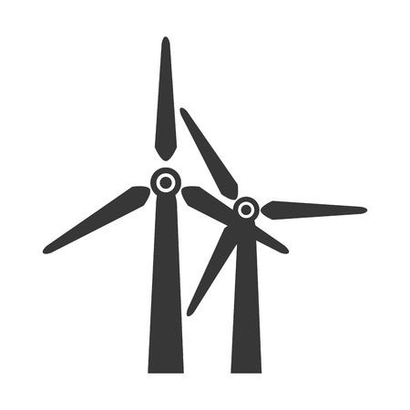 windfarm: wind farm windfarm tower electricity eco power vector graphic isolated and flat illustration