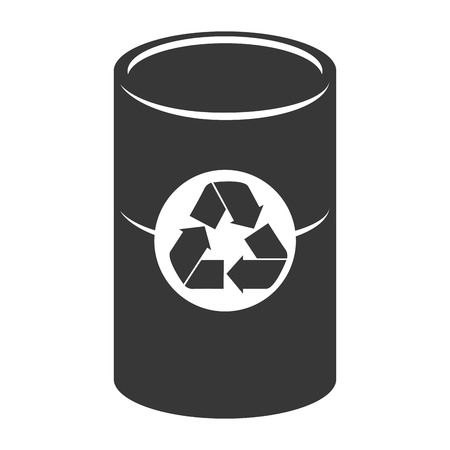 recipient: trash recipient recycling garbage can clean ecology vector graphic isolated and flat illustration