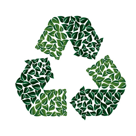 enviroment: recycling symbol ecology trash enviroment nature triangle arrows vector graphic isolated and flat illustration
