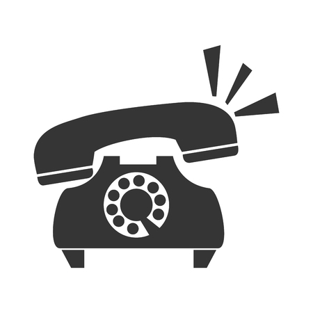 telephone vintage retro ring calling buttons phone communication line call vector graphic isolated and flat illustration