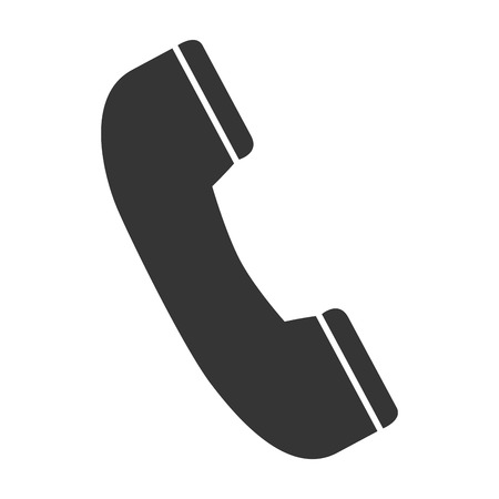 bakelite: telephone handset  phone communication line call vector graphic isolated and flat illustration