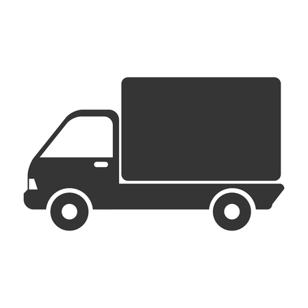 camion: truck cargo side delivery transport industry shipment vehicle transporter vector graphic isolated and flat illustration Illustration