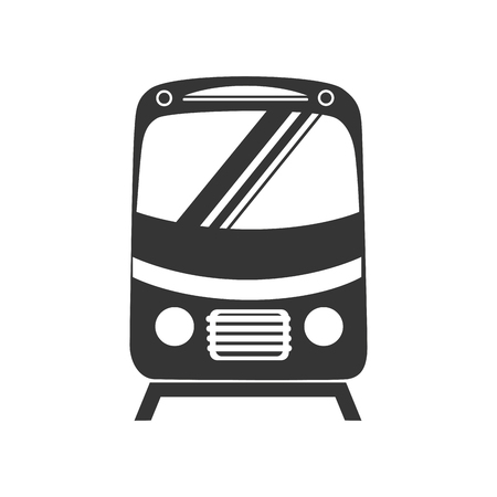 the hovercraft: tram car train front express subway ride railway vector graphic isolated and flat illustration