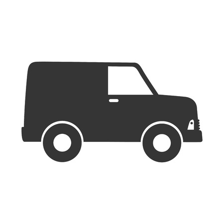 waggon: delivery truck transportation cargo van wagon shipment vector graphic isolated and flat illustration
