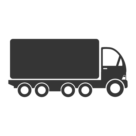 camion: truck cargo delivery transport industry shipment vehicle transporter vector graphic isolated and flat illustration