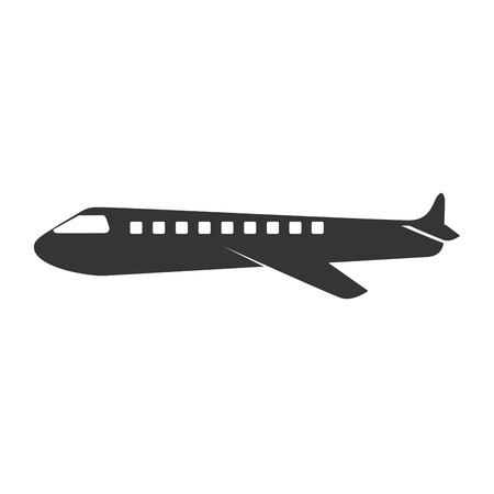 plane fly wing side airplane commercial business high vehicle vector graphic isolated and flat illustration