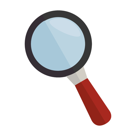 examine: lupe magnifying glass search explore instrument focus examine vector graphic isolated and flat illustration
