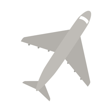 plane aeroplane top air sky travel vehicle transport vector graphic isolated and flat illustration