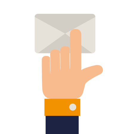 get in touch: check mail finger inbox send mailbox read delivery vector graphic isolated and flat illustration