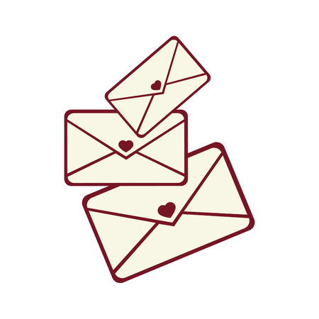 chatbox: mail love letter heart  romance romantic envelope vector graphic isolated and flat illustration