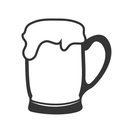fresh brewed: beer glass drink cold bavarian alcohol bar liquid pub vector graphic isolated and flat illustration