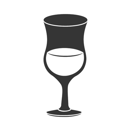 whie wine: drink wineglass beverage liquid alcohol coctel glass vector graphic isolated and flat illustration