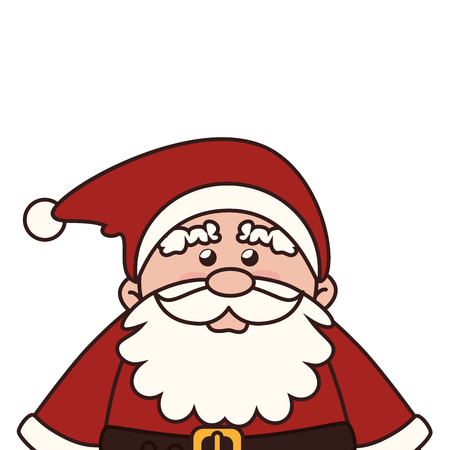 pere noel: santa claus face  man christmas beard hat cartoon red traditional vector graphic isolated and flat illustration