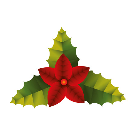 spiked: decoration christmas plant leaf european berry december vector graphic isolated and flat illustration Illustration