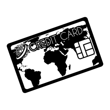 plastic money: card  credit money pay chip transaction plastic  money vector graphic isolated and flat illustration Illustration