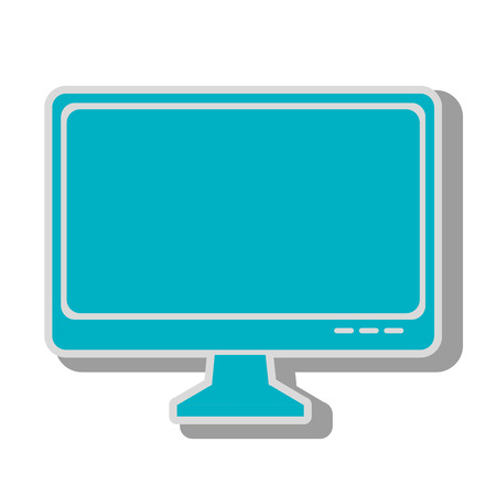 pc monitor: monitor pc computer screen device technology computer vector graphic isolated and flat illustration
