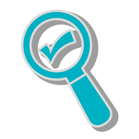 lupe check magnifying glass search explore instrument focus examine vector graphic isolated and flat illustration