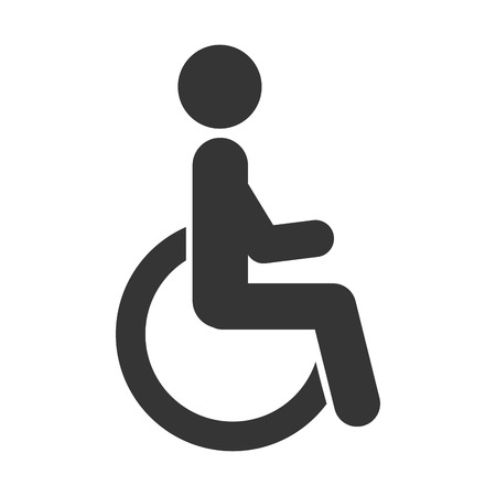 paralyze: handicapped symbol wheelchair person human paralyze medical vector graphic isolated and flat illustration Illustration