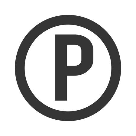Parking Symbol Sign Circle P Zone Garage Car Vehicle Vector Graphic