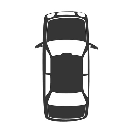 sedan: vehicle top transportation car sedan automobile vector graphic isolated and flat illustration