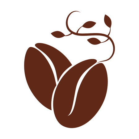 coffee leaf: bean leaf coffee natural organic cafe plant vector graphic isolated and flat illustration