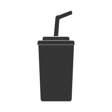 quench: paper cup take away liquid drink fast soda vector graphic isolated and flat illustration