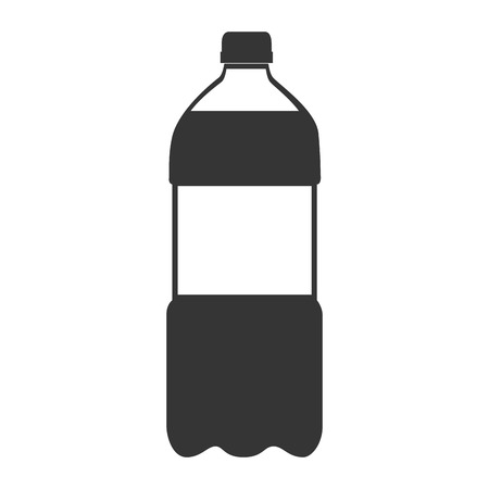 recipient: bottle soda drink liquid recipient beverage cap container vector graphic isolated and flat illustration