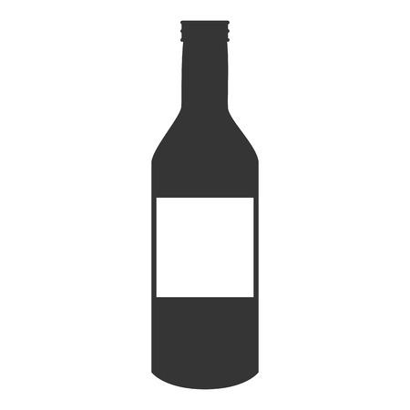recipient: bottle wine drink liquid recipient beverage cap container vector graphic isolated and flat illustration