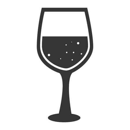 wineglass: wineglass drink wine alcohol bar silhouette winery vector graphic isolated and flat illustration