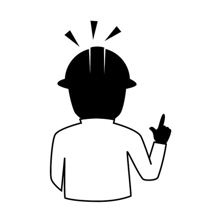 overseer: man helmet construction foreman person human  engineer vector graphic isolated and flat illustration