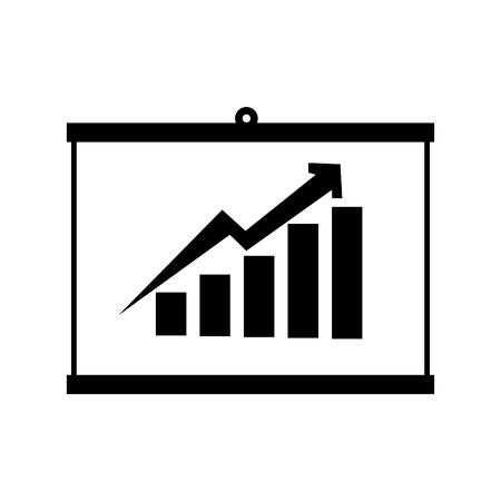 Grafico grafico statistiche linea strippes finanziaria grafica vettoriale isolato e illustrazione piatta Archivio Fotografico - 61150139