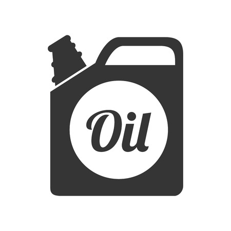 grease: oil bottle gallon liquid tool fuel mechanic industry vector graphic isolated and flat illustration Illustration