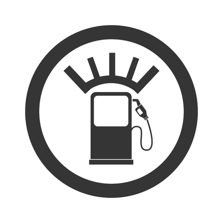 gas meter: meter fuel hands pump station gas fill empty vector graphic isolated and flat illustration