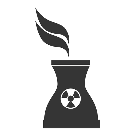 isotope: nuclear tower vape icon symbol industry plant vector graphic isolated and flat illustration Illustration