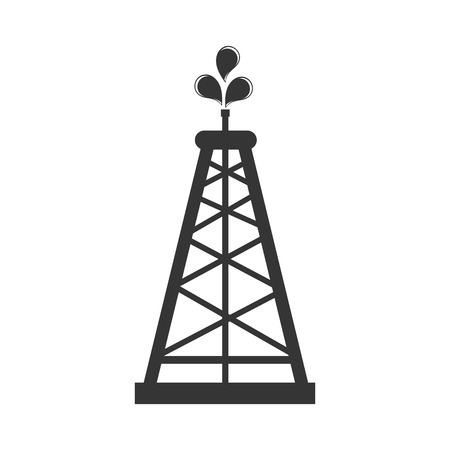 tower icon drilling oil fuel liquid chemestry industry petroleum vector graphic isolated and flat illustration Çizim