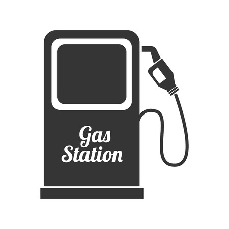 stranded: gas pump station nozzle car vehicle industrial fuel auto vector graphic isolated and flat illustration