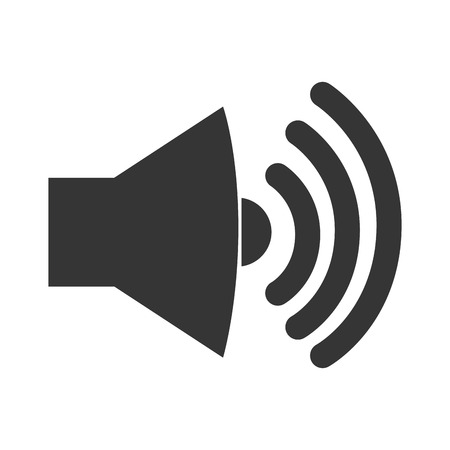 loud speaker: sound loud volume speaker music wave symbol vector graphic isolated and flat illustration