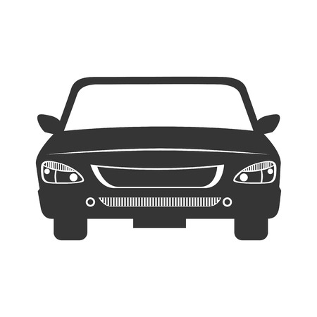 fas: car front automobile auto vehicle transport vector graphic isolated and flat illustration
