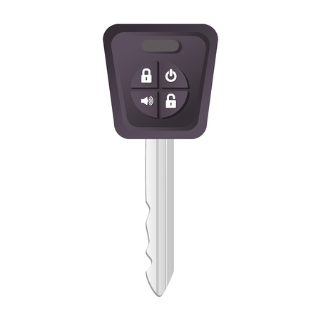 car key buttons door alarm single security  vector graphic isolated and flat illustration Illustration
