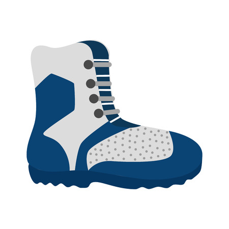 hiking boot: hiking boot shoes winter snow mountain ice vector graphic isolated and flat illustration Illustration