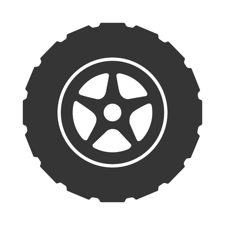 rim: tire wheel car vehicle rim rubber part vector graphic isolated and flat illustration