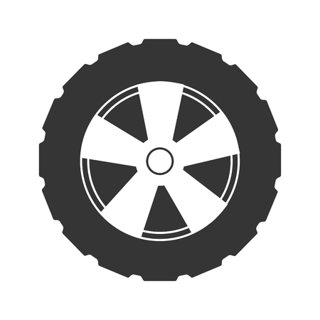 wheel rim: tire wheel car vehicle rim rubber part vector graphic isolated and flat illustration